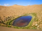 Du lịch - Những hồ nước bí ẩn trên sa mạc đẹp như tiên cảnh ở Trung Quốc