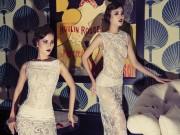 Bộ đôi mẫu Việt tạo dáng như tượng sáp