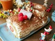 Cách làm bánh khúc cây đẹp mê ly đón Giáng sinh