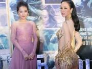 Nhã Phương và Vũ Ngọc Anh thi nhau diện xuyên thấu hút mắt khách mời