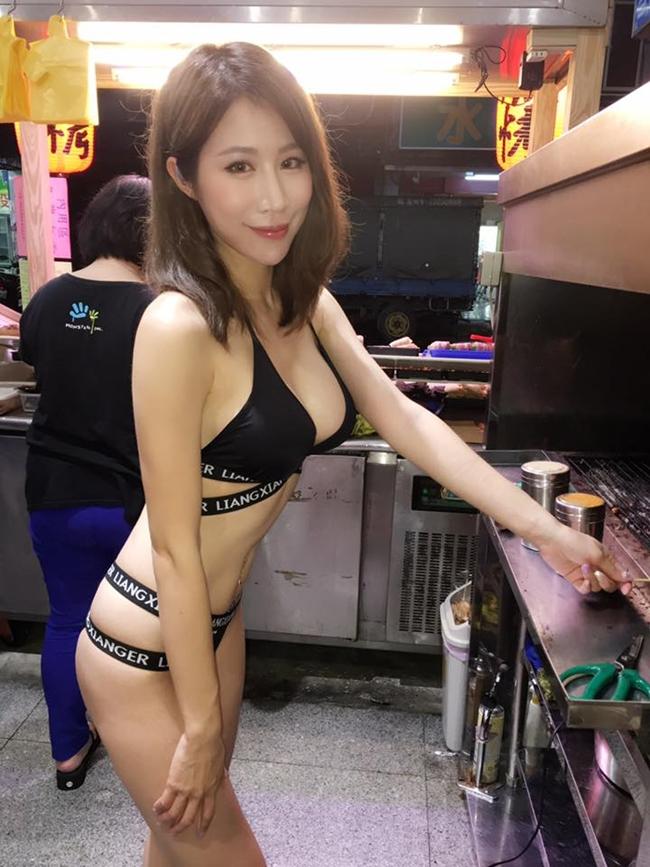 Tân  Nghi Nho từng nổi tiếng hồi đầu tháng 12.2016 khi diện bikini bán thịt xiên nướng. Cô được mệnh danh là  chân dài bán thịt xiên nóng bỏng nhất  Đài Loan.