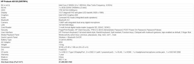 HP Probook 430 G5: Laptop trang bị chip Intel thế hệ thứ 8 mới nhất - 6
