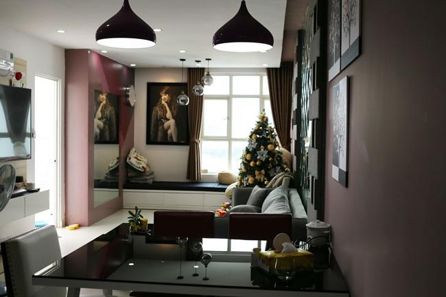 Pha Lê từ chối tiết lộ về trị giá của căn hộ có tông màu tím chủ đạo. Cô chỉ nói rằng bản thân rất may mắn khi mua được một căn nhà rất được giá.