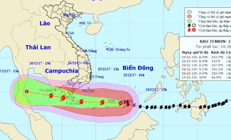"""Bản tin bão 15h: Bão số 16 di chuyển """"thần tốc"""", sóng biển cao 10m - 1"""