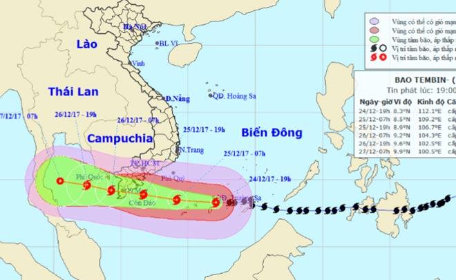 Bản tin bão 22h: Bão số 16 hoành hành, quần đảo Trường Sa đang mưa dữ dội - 1
