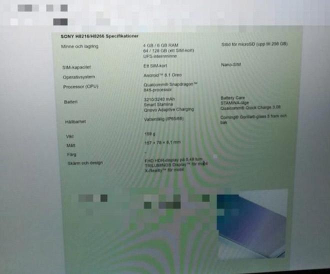 Sony H8266 sẽ là smartphone Xperia có RAM 6GB đầu tiên - 2