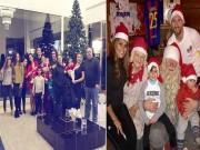 Ronaldo cười gượng đón Giáng sinh, Messi mở hội cùng gia đình
