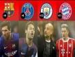 """""""Tứ đại anh hùng"""" Man City, Barca, Bayern và PSG bứt phá: Điểm chung kỳ lạ"""