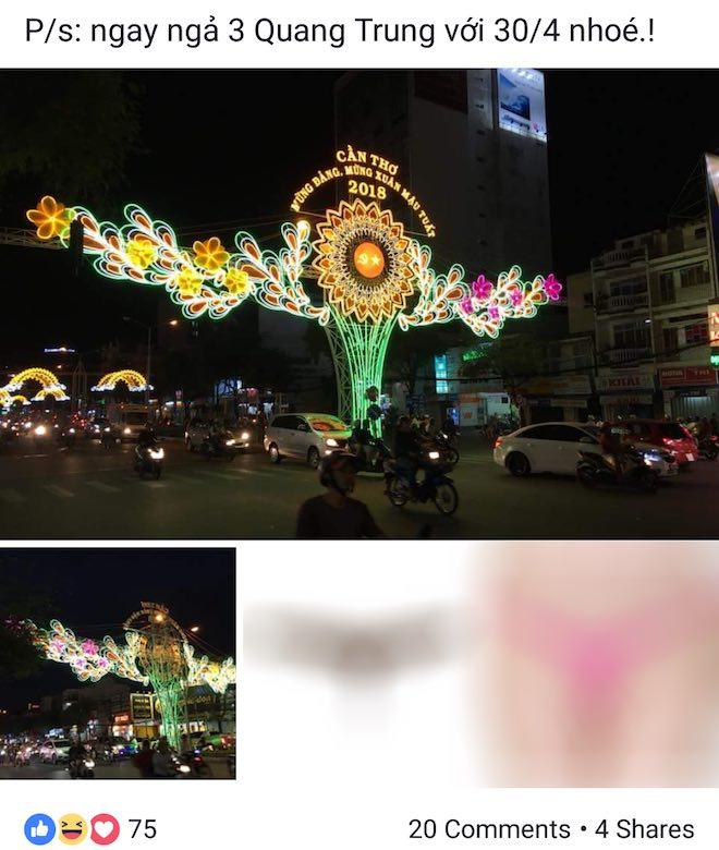 Thông tin mới mùa Facebooker đăng tải hình cổng chào Xuân 2018 kèm cặp hình mẫn cảm - 2
