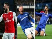 """10 siêu phẩm Ngoại hạng Anh 2017:  """" Cao xạ """"  Rooney đấu siêu phẩm Hazard"""