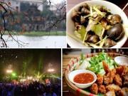Đi đâu, ăn gì dịp Tết Dương lịch ở Hà Nội?
