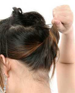 Các kiểu búi tóc hiện đại - 1