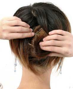 Các kiểu búi tóc hiện đại - 3