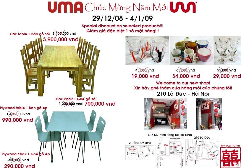 "Siêu thị Nội thất UMA: "" Big sale up to 50%"" - 3"
