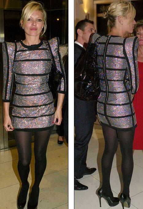 Kate Moss huyền bí trong chiếc váybằng vàng trắng và kim cương - 1