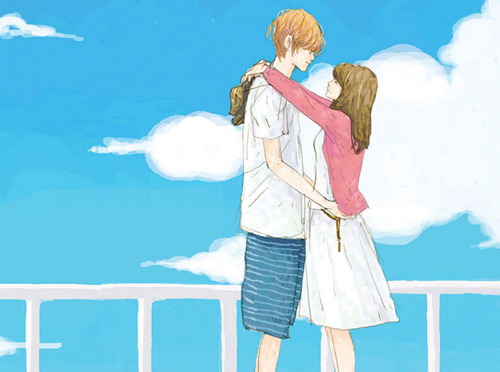 Trao cho nhau nụ hôn của tình đầu.