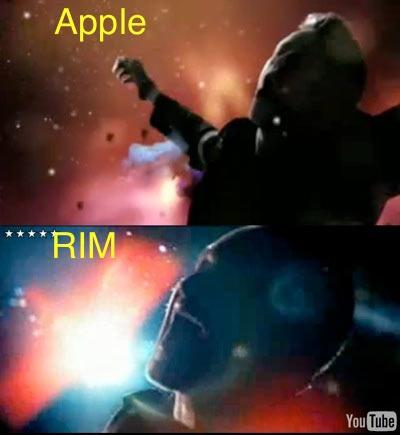 """BlackBerry """"nhại"""" quảng cáo của Apple? - 1"""