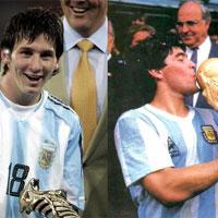 Video những pha bóng kĩ thuật của Maradona và Messi