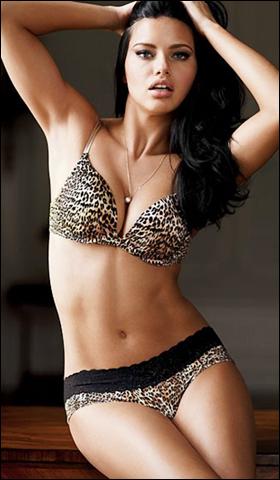 Ngắm siêu mẫu Adriana Lima khêu gợi với nội y - 3