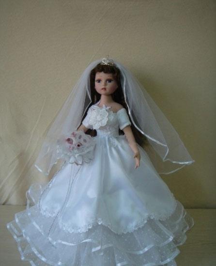 Độc đáo với cô dâu... búp bê! - 6