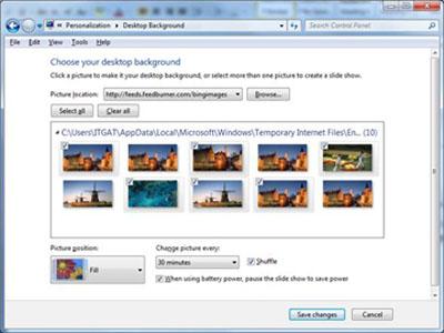 Lấy ảnh nền của Bing làm wallpaper cho Windows 7 - 2