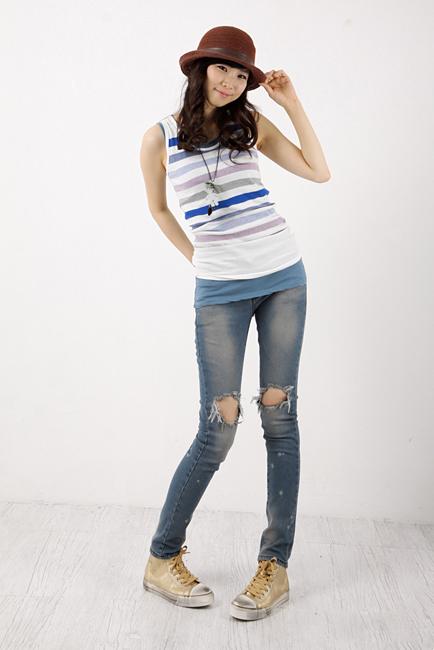 Tiết Thu: Jeans rách gối thịnh hành! - 1