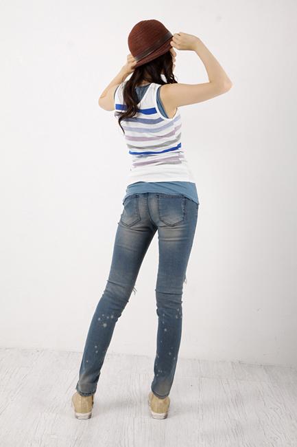 Tiết Thu: Jeans rách gối thịnh hành! - 3