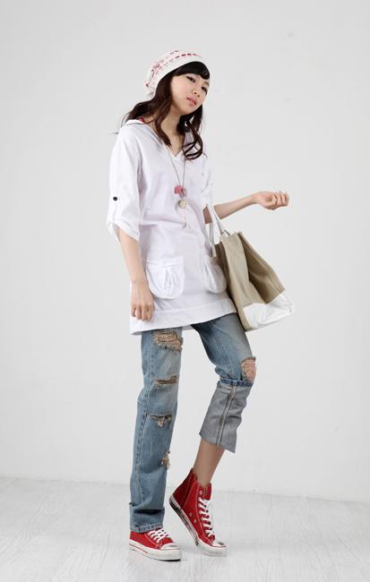 Tiết Thu: Jeans rách gối thịnh hành! - 11