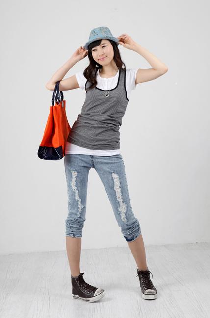 Tiết Thu: Jeans rách gối thịnh hành! - 17