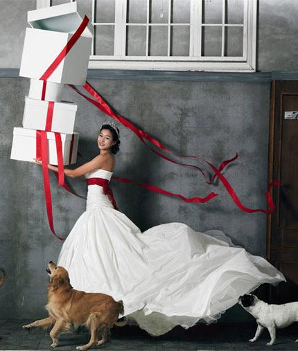 Quyến rũ hơn nhờ váy cưới Hàn Quốc - 1