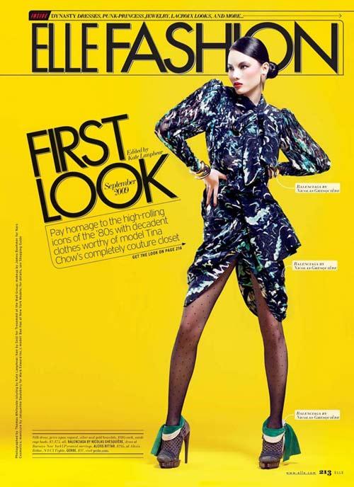 Siêu mẫu Bảo Hòa xuất hiện trên Elle Mỹ - 1