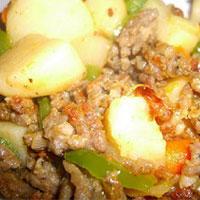 Khoai tây xào thịt băm