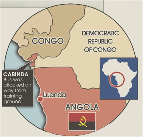 """Video + Ảnh """"nóng"""" nhất vụ thảm sát các cầu thủ Togo tại CAN 2010 - 4"""