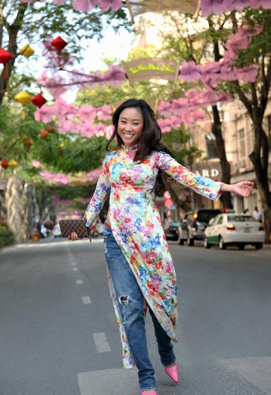 Áo dài + jeans = Cá tính Đoan Trang - 9
