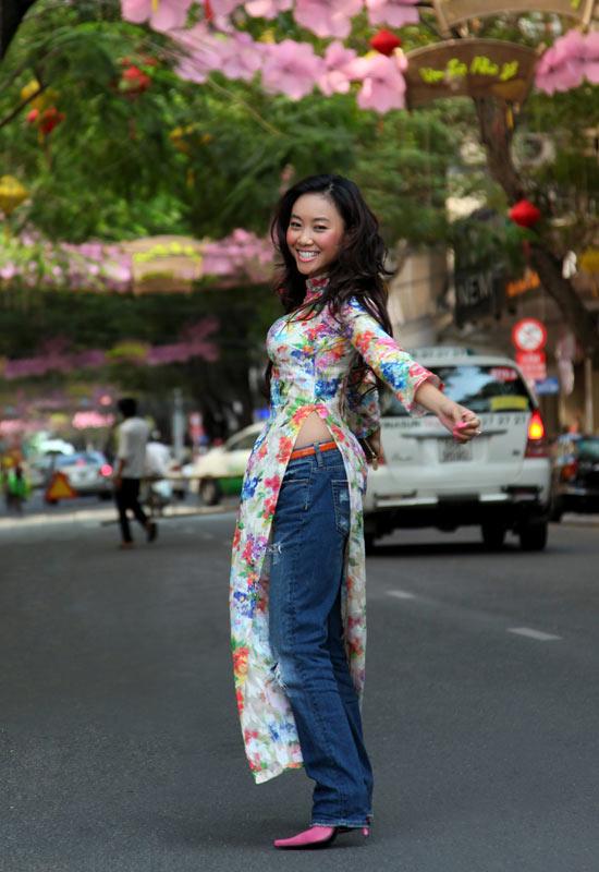 Áo dài + jeans = Cá tính Đoan Trang - 11