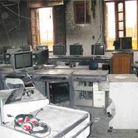 Trường Tiểu học Kim Liên hoảng loạn vì cháy