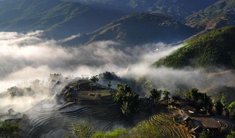 Mây núi Sa Pa đẹp như tranh thủy mặc - 7