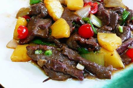 Mềm thơm thịt bò xào dứa - 3