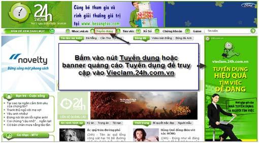 Vieclam.24h.com.vn – Phương thức tuyển dụng hiệu quả cho từng Doanh nghiệp. - 1