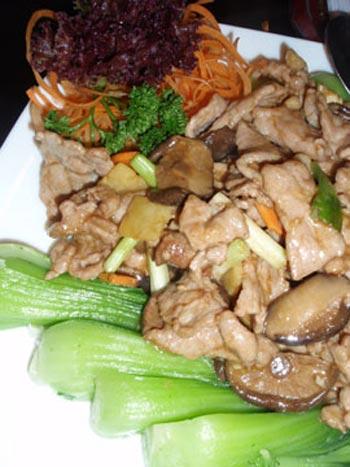 Thịt heo xào nấm cải xanh - 1