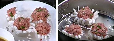 Mực ống dồn thịt hấp xốt me - 2