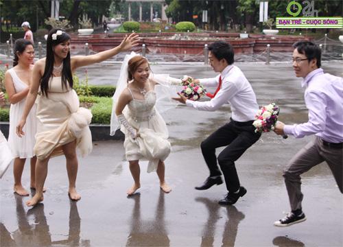 Những tình huống hài hước của cô dâu, chú rể - 8