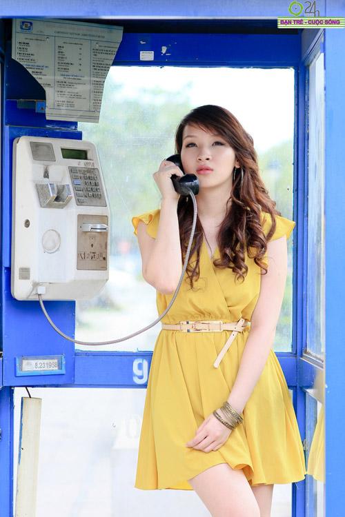 Hot girl Linh Genie tươi tắn trên phố Sài Gòn - 6