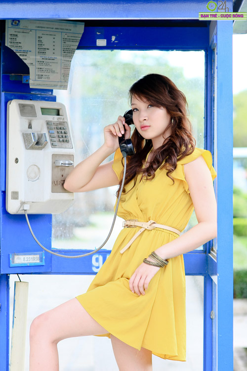 Hot girl Linh Genie tươi tắn trên phố Sài Gòn - 8