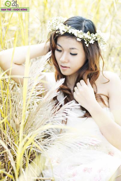 Hot girl Giang Hà dịu dàng giữa thiên nhiên - 2
