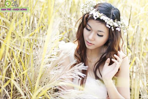 Hot girl Giang Hà dịu dàng giữa thiên nhiên - 7