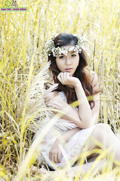 Hot girl Giang Hà dịu dàng giữa thiên nhiên - 3
