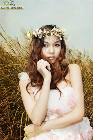 Hot girl Giang Hà dịu dàng giữa thiên nhiên - 4