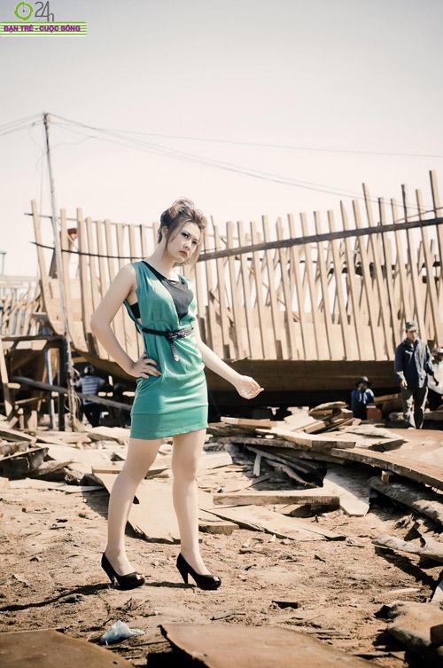 Hot girl Sâu Xinh dịu dàng trước biển - 5