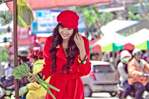 Tứ đại hot girl Việt rạng rỡ cùng sắc đỏ - 3